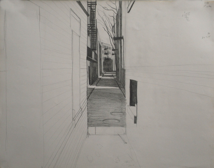 Study for Down An Alley