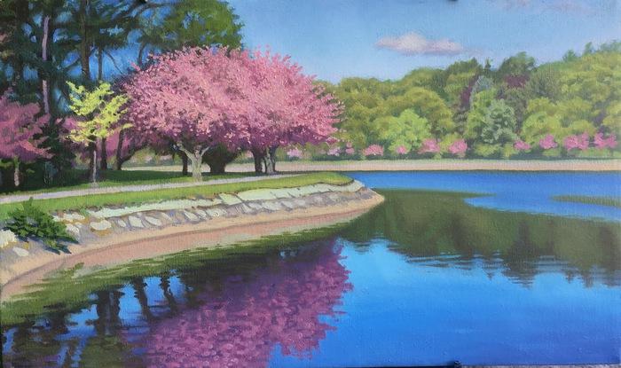 Spring Reservoir Trees