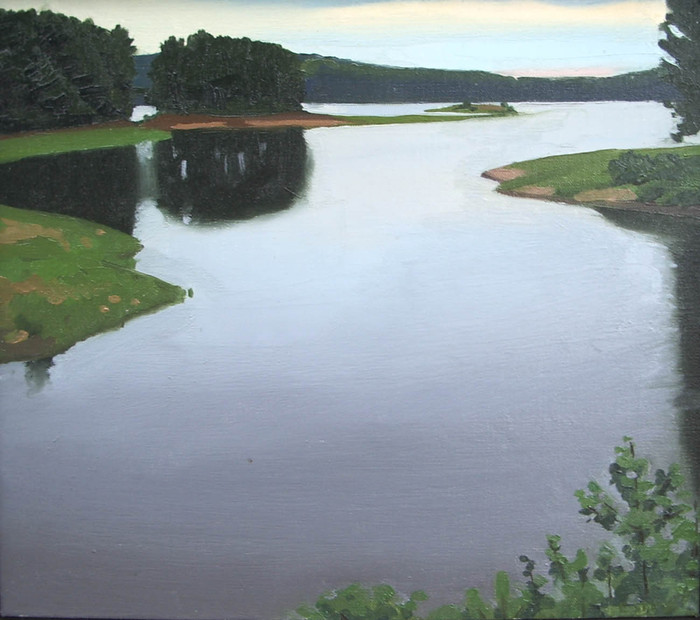 Wachusett Reservoir, Cloudy