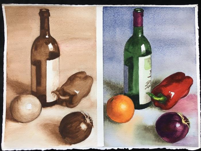 Watercolor Value Study